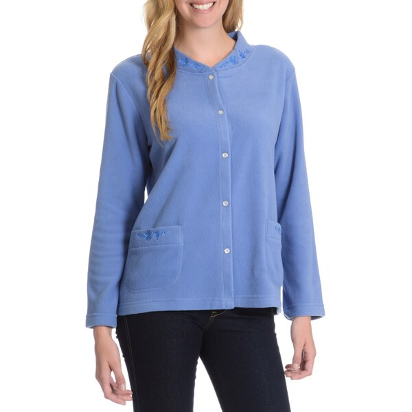 La Cera Women's /Embroidery Detail Lounge Jacket
