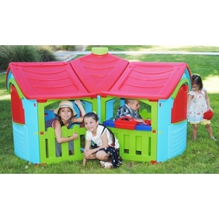 Pal Play Grand Villa Kitchen Playhouse with Workshop Extension