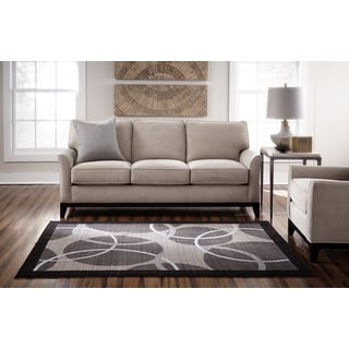 Spaces by Welspun Contemporary Geometric Grey Area Rug (8' x 10')