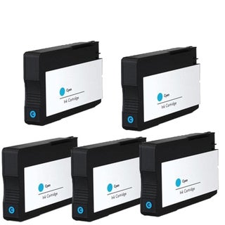 HP 933XL C (CN054AN) Compatible Inkjet Cartridge For 6100 H611a 6600 6700 (Pack of 5)