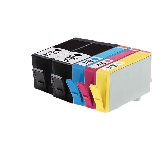 364XL BK (CB316EE) 364XL C (CB318EE) 364XL M (CB319EE) 364XL Y (CB320EE) Compatible Inkjet Cartridge For B8550 (Pack of 5)