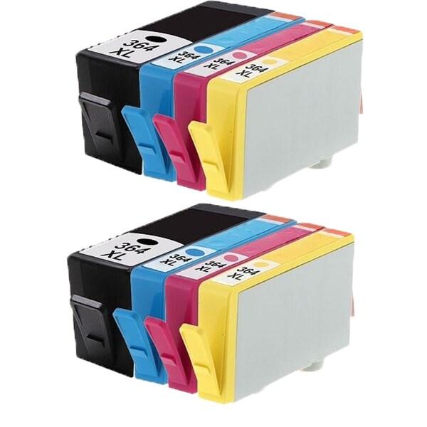364XL BK (CB316EE) 364XL C (CB318EE) 364XL M (CB319EE) 364XL Y (CB320EE) Compatible Inkjet Cartridge For B8550 (Pack of 8)