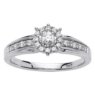 PalmBeach 10k Gold 1/4ct TDW Round Diamond Promise Ring (H-I, I2-I3)