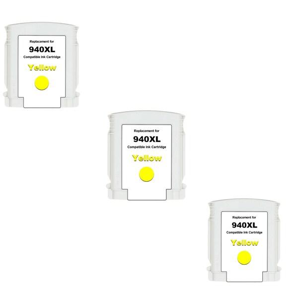 940XL Y (C4909AN) Compatible Inkjet Cartridge For HP OfficeJet Pro 8000 OfficeJet Pro 8500 (Pack of 3)