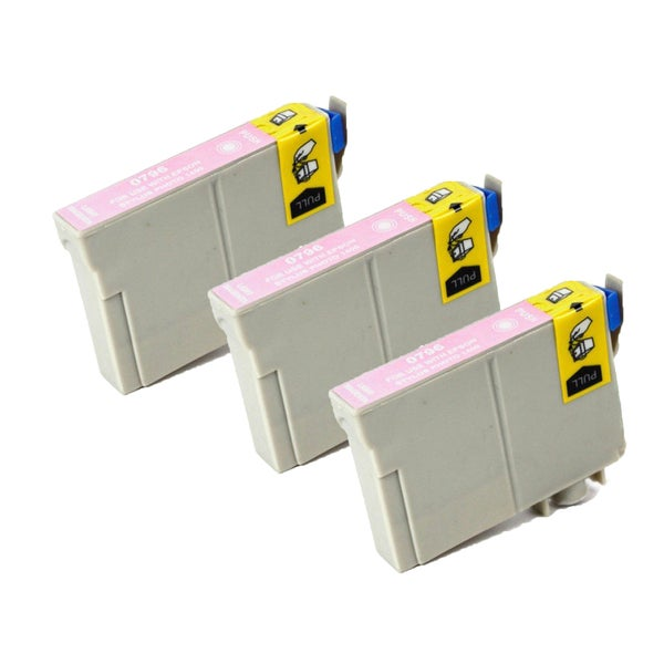 Epson T079620 (T0796) Lighty Magenta Replacement Ink Cartridge PhotoStylus Photo 1400 1430 (Pack of 3)