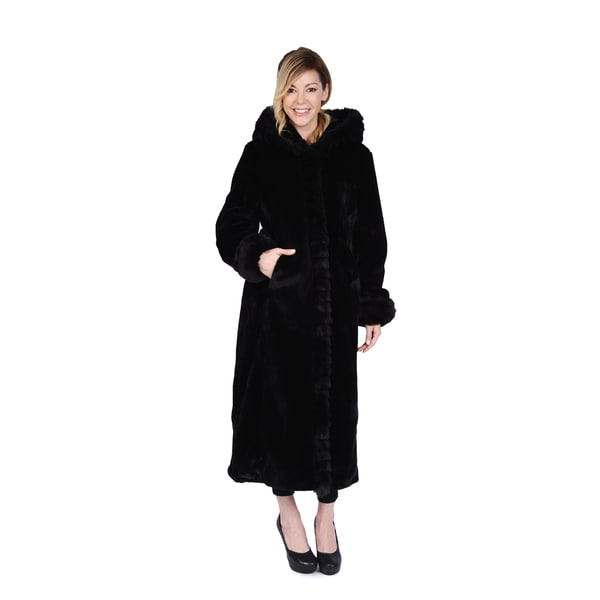 Excelled Women's Faux Fur Hooded Full Length