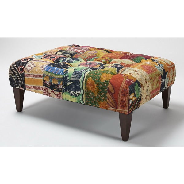 Jennifer Taylor Traditional Multi-colored Square Bench