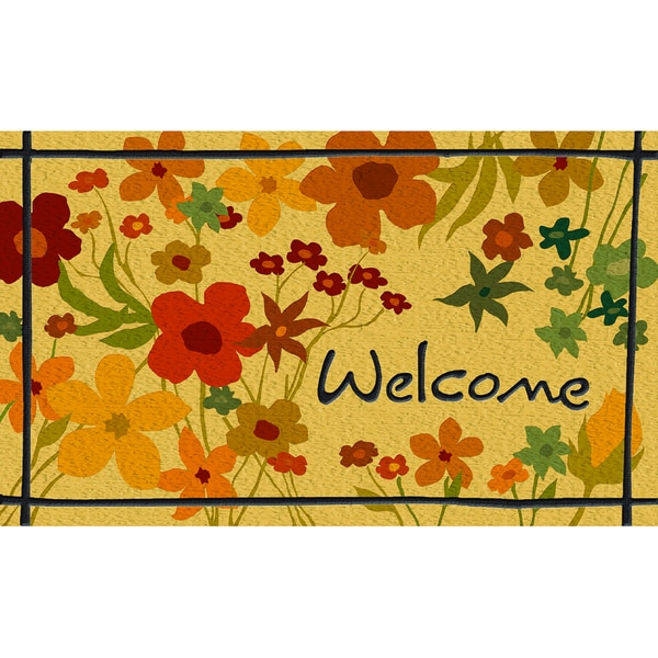 "Outdoor Wild Flower Doormat (18"" x 30"")"