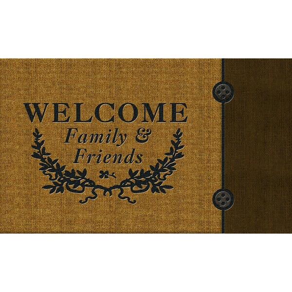 """Outdoor Welcome Crest Doormat (18"""" x 30"""")"""