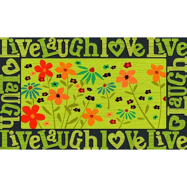 """Outdoor Live, Love, Laugh Doormat (18"""" x 30"""")"""