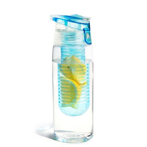 Asbou Flavour it 2 Go - Fruit Infuser Bottle - 20oz - BPA free (One Bottle)