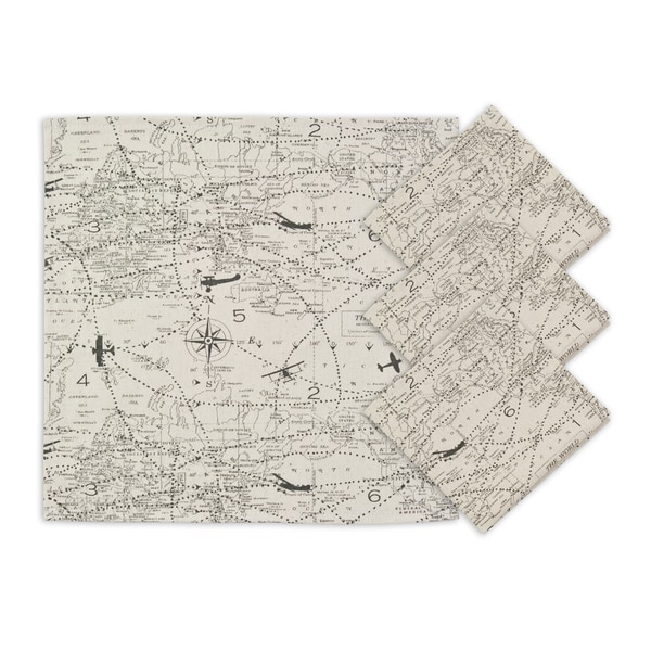 Air Traffic Natural Napkins (Set of 4)