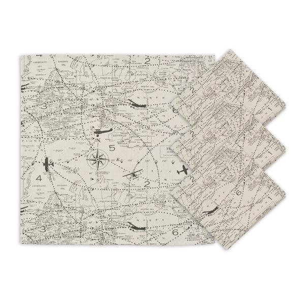 Air Traffic Natural Napkins (Set of 4)