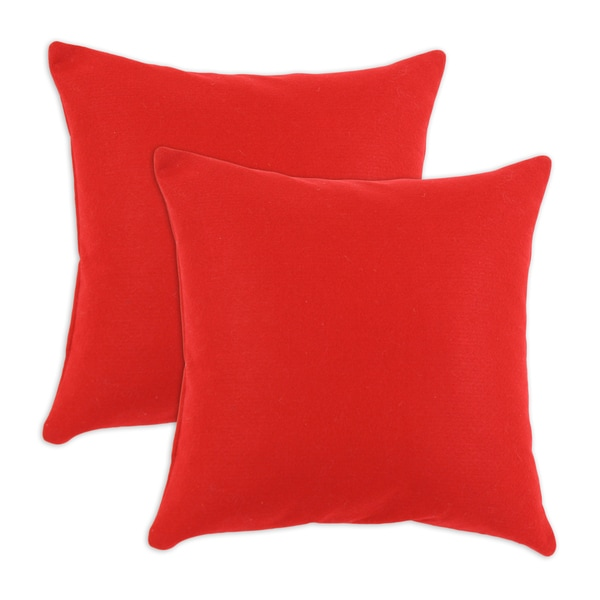 Felt Red 17x17 Pillow (Set of 2)