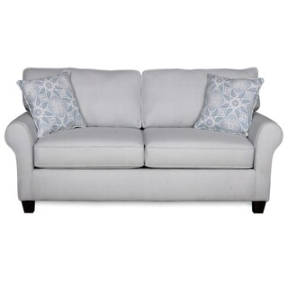 Sofab Bella Lake Gingham Loveseat with Two Accent Pillows