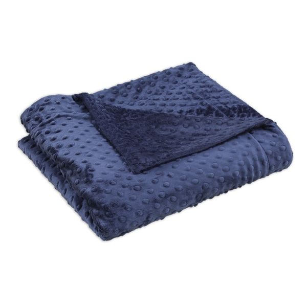 Dots Navy Flanged Throw