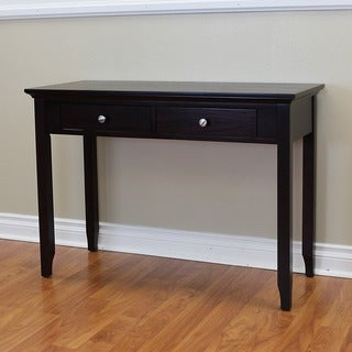 Ferndale Espresso 2-drawer Console Table