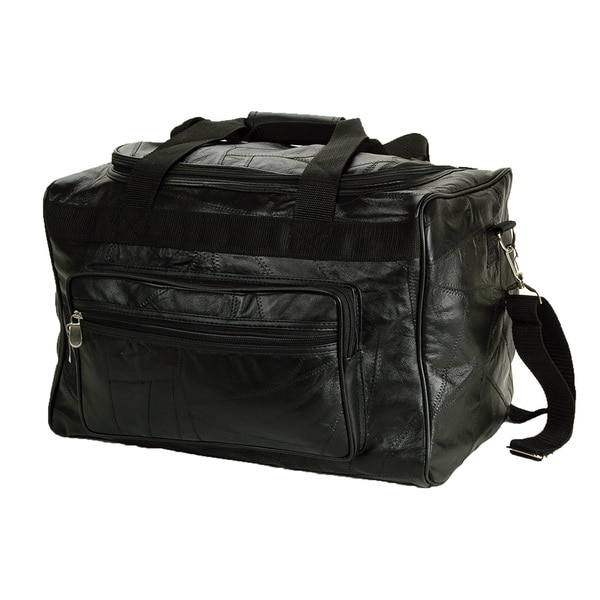 Genuine Leather 16-inch Carry On Duffel Bag