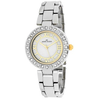 Anne Klein Women's 10-9621MPTT Classsic Round Silvertone Stainless Steel Bracelet Watch