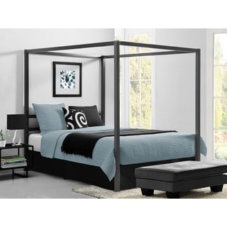 DHP Modern Grey Queen Canopy Bed