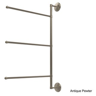 Allied Brass Prestige Monte Carlo Collection 3-swing Arm 28-inch Towel Bar