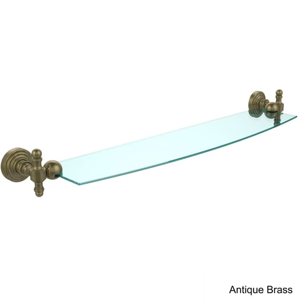 Retro Wave 24-inch Glass Shelf