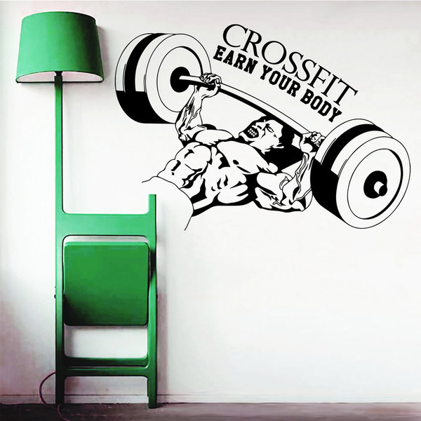 Body Building Gym Fitness Crossfit Bench Lift Vinyl Sticker Wall Art
