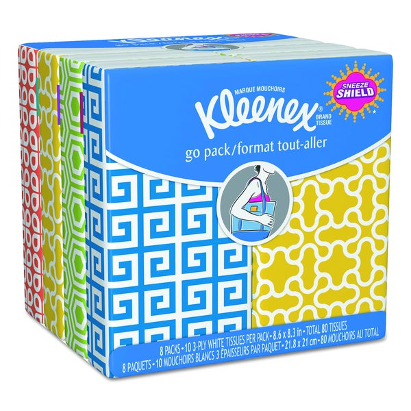 Kleenex 3-Ply White Facial Tissue Pocket Packs (Pack of 5)