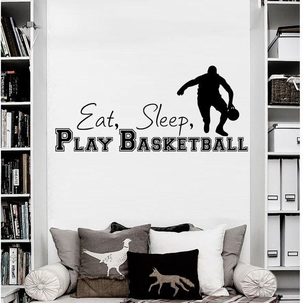 Eat Sleep Play Basketball Vinyl Sticker Wall Art