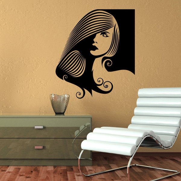 Fashion Girl Spa Decor Vinyl Sticker Wall Art