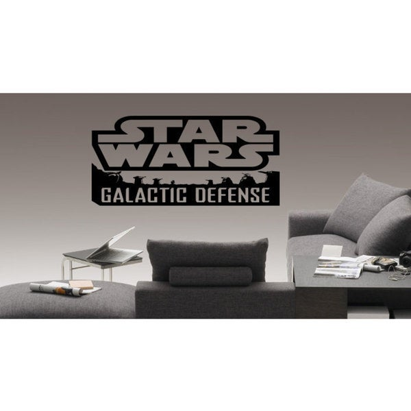 Galactic Defence Star Wars Logo Emblem Vinyl Sticker Wall Art