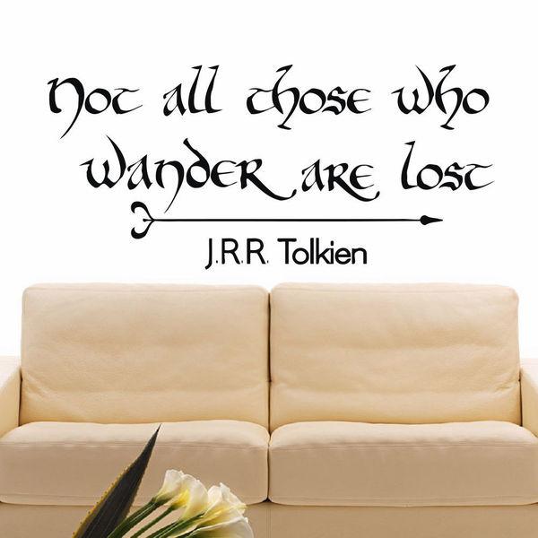 J.R.R. Tolkien Hobbit Quote Vinyl Wall Art Decal Sticker