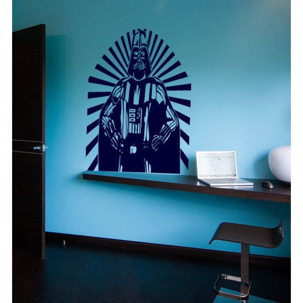 Lord Vader Star Wars Blue Vinyl Sticker Wall Art