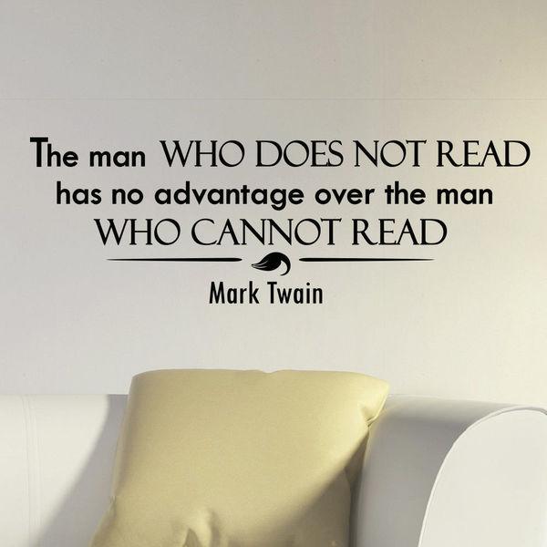 Mark Twain Quote Vinyl Sticker Wall Art