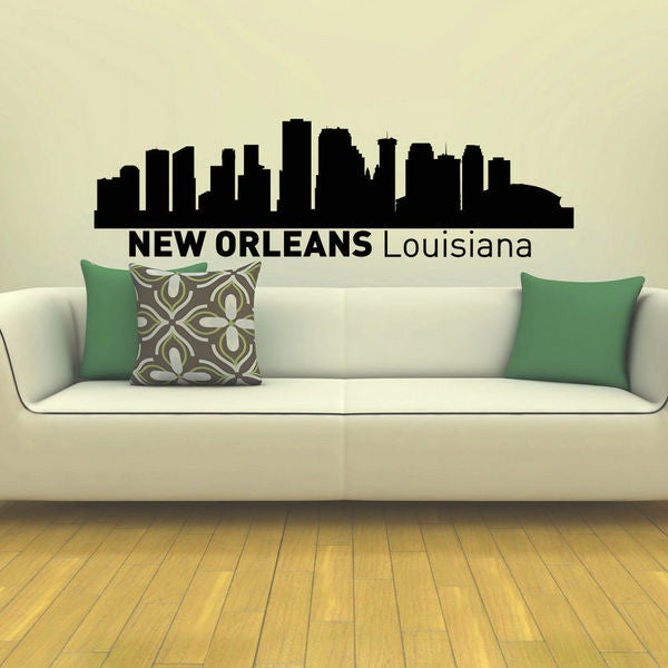 New Orleans Skyline City Silhouette Vinyl Wall Art Decal Sticker