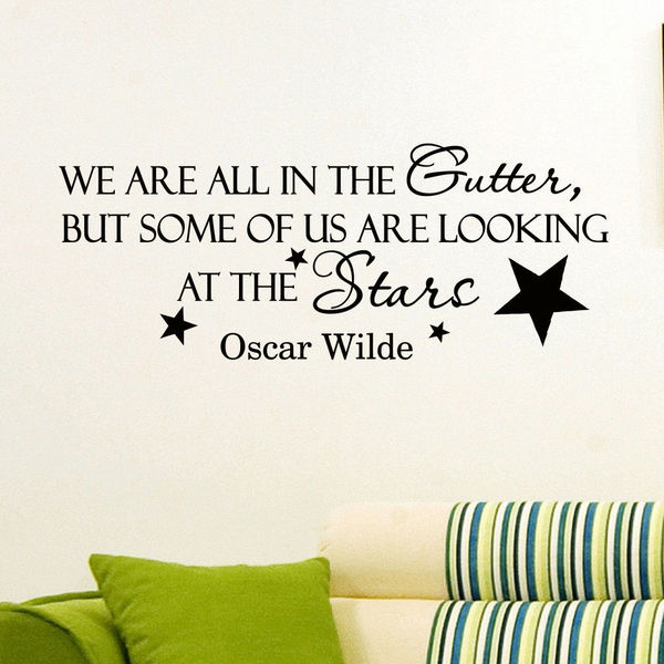 Oscar Wilde Vinyl Sticker Wall Art