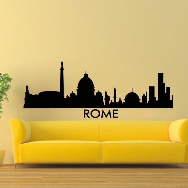 Rome City Silhouette Vinyl Wall Art Decal Sticker