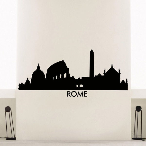 Rome Skyline City Silhouette Vinyl Wall Art Decal Sticker