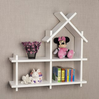 Danya B House Design White Wall Shelf