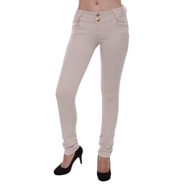 Sexy Couture Women's S89-PS Mid Rise Regular Skinny Stretch Jeans