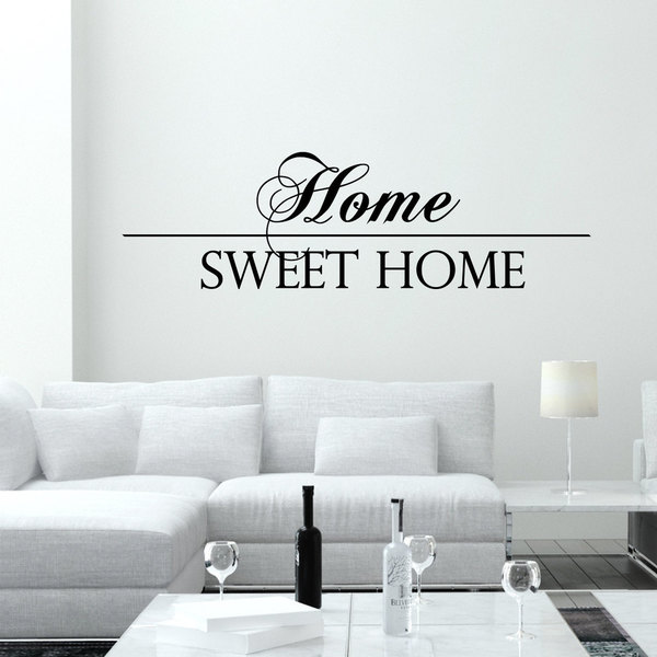 Script Fancy Home Sweet Home Font Vinyl Sticker Wall Art