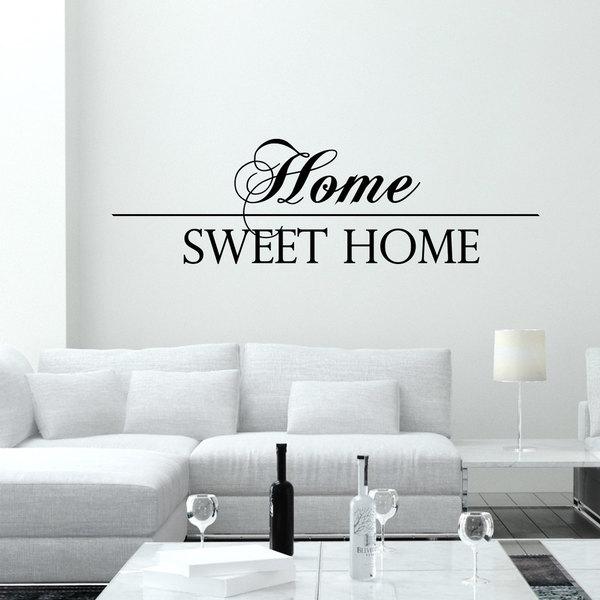 Script Fancy Home Sweet Home Font Vinyl Sticker Wall Art