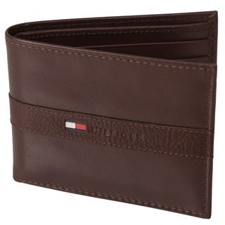 Tommy Hilfiger Men's Genuine Leather Passcase and Valet Wallet