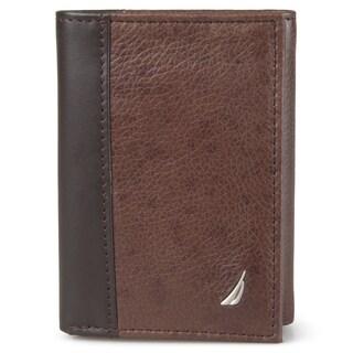 Nautica Men's Leather Tri-fold Wallet