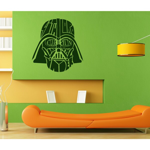 Sith Lord Darth Vader Helmet Star Wars Vinyl Sticker Wall Art