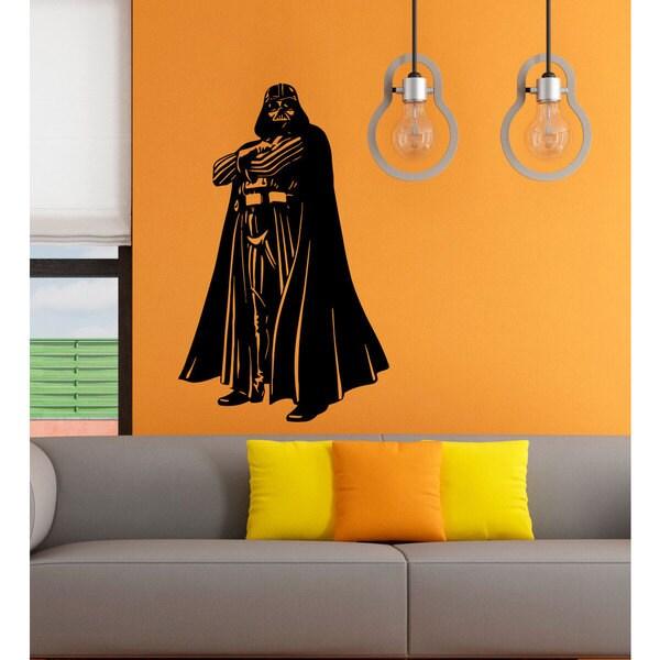 Standing Darth Vader Star Wars Vinyl Sticker Wall Art