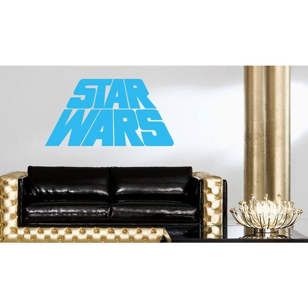 Star Wars Logo Emblem Blue Vinyl Sticker Wall Art