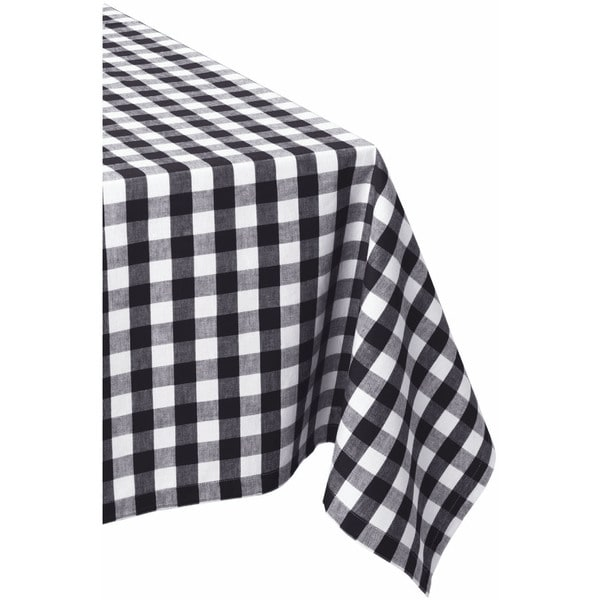 Black & White Checkers 52 x 52 Tablecloth