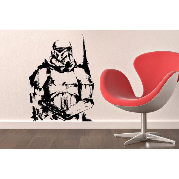 Storm Trooper Sketch Star Wars Vinyl Sticker Wall Art