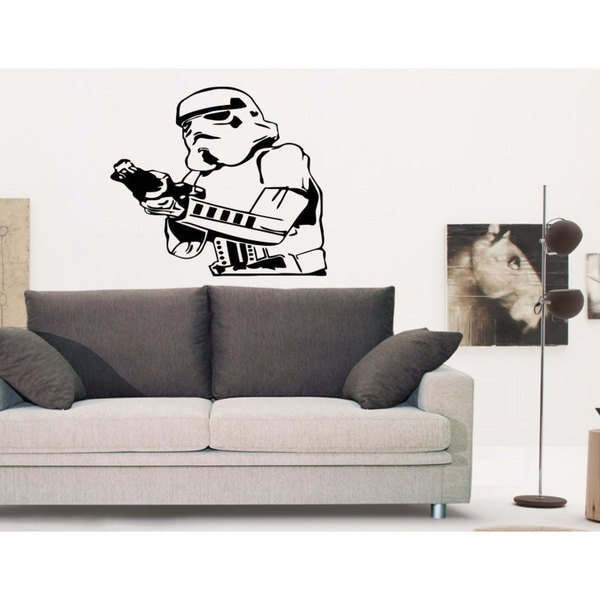 Storm Trooper with Blaster Vinyl Sticker Wall Art